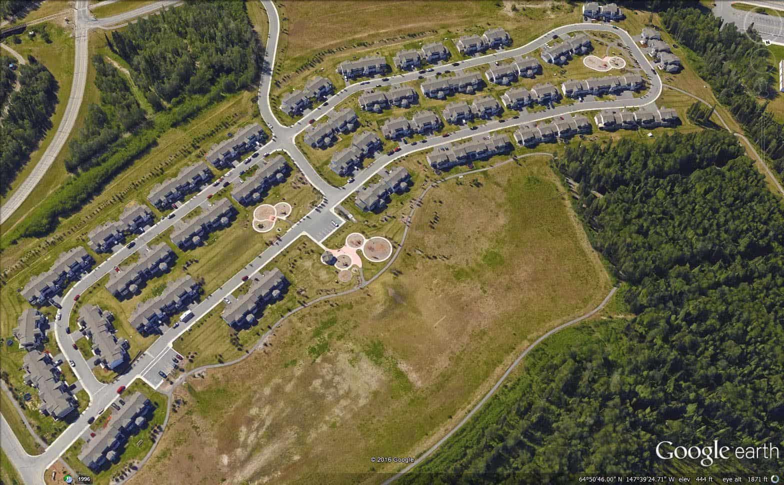Siku Basin Housing Google Earth 3